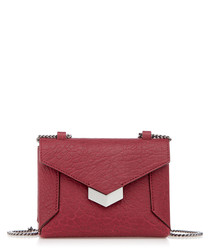 Lexis red leather cross body