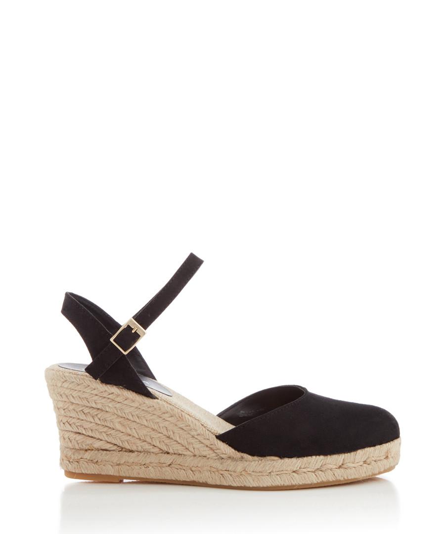 221d864b511 Sabrina black wedge mid-heel sandals Sale - CARVELA ...