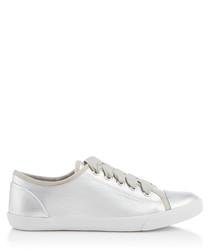 Jasper silver-tone sneakers