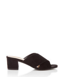 Sienna black crossover mules