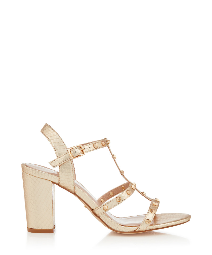 Kansas gold-tone block heels Sale - carvela