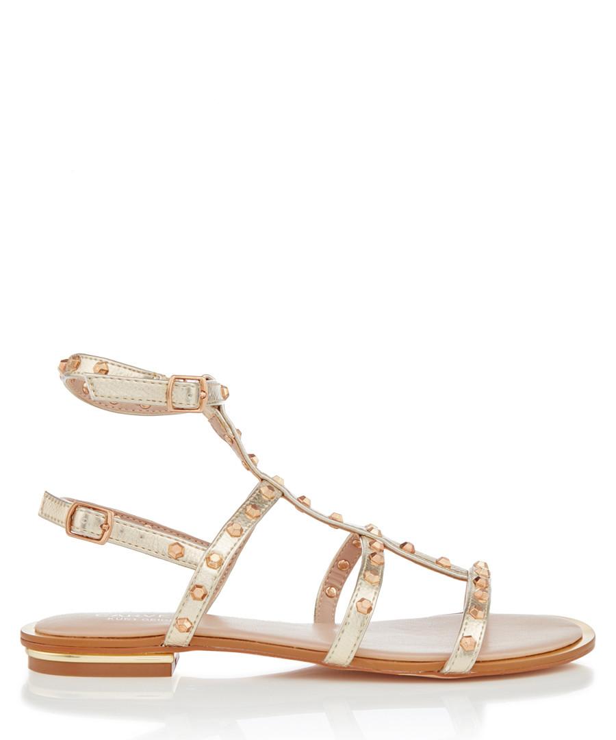 Banker gold-tone gladiator sandals Sale - CARVELA