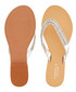 Breanne silver-tone leather flip flops  Sale - carvela Sale