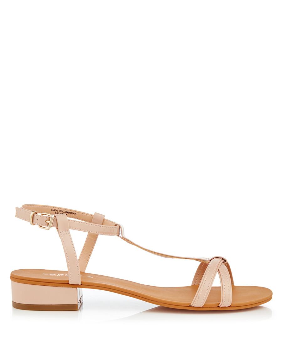 30ff5f2ea Discount Bravo nude mid heel sandals | SECRETSALES