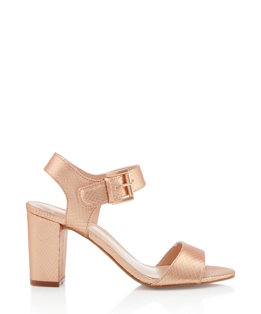 Sadie bronze-tone buckle heeled sandals Sale - carvela
