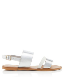 Blink white & silver strappy sandals