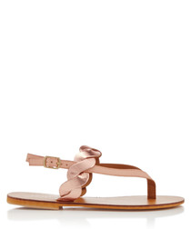 Aim nude braided sandals