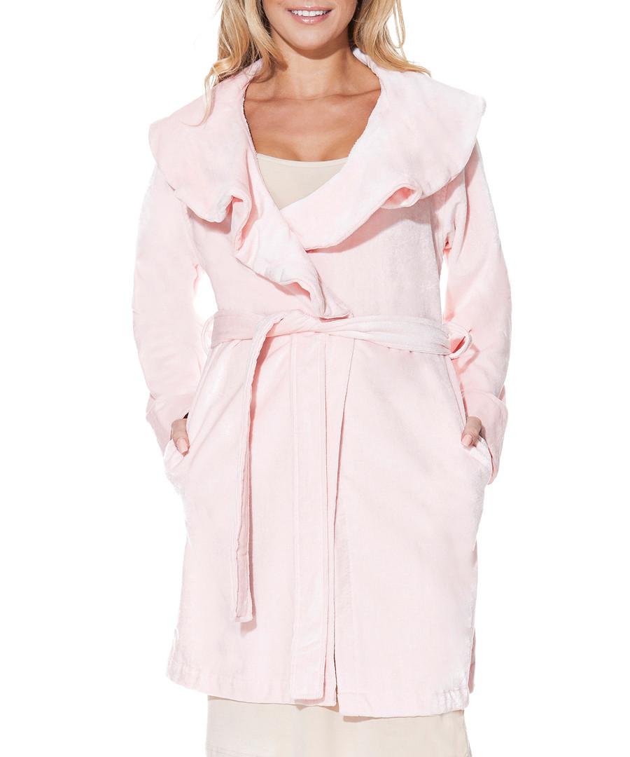 Discount Pink bamboo & cotton short dressing gown | SECRETSALES