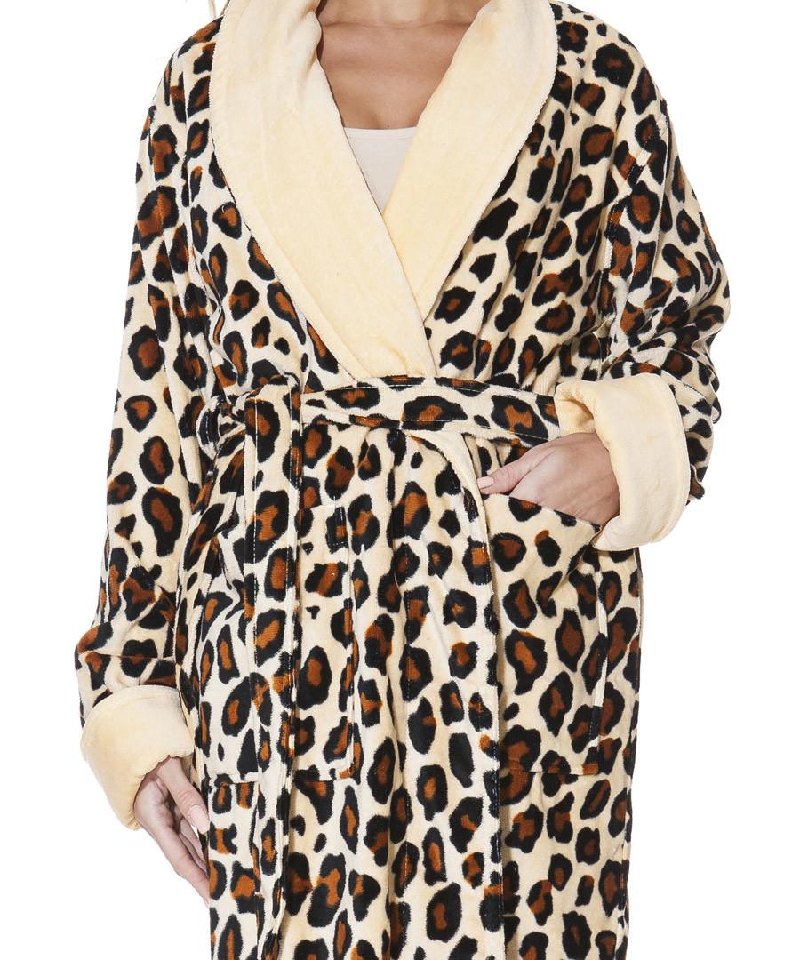 3b310c7b53 Women s Leopard Print Dressing Gown Bath Robe Super Soft fleece Long Length  Source · Discount Brown cotton leopard print dressing gown SECRETSALES