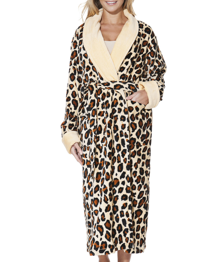 b9ba80f687 Discount Brown cotton leopard print dressing gown SECRETSALES