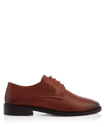 Tamworth tan lace-up Derby shoes