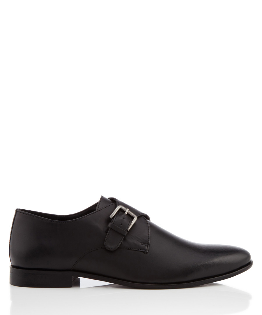 Tadley black monkstrap shoes Sale - KG MEN
