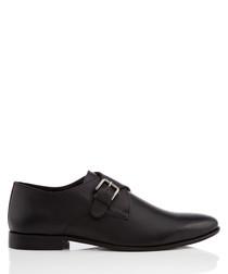 Tadley black monkstrap shoes