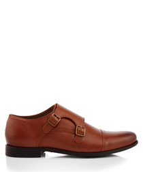 Manning tan leather monkstrap shoes