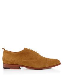 Topsham tan suede Oxford shoes