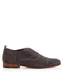 Topsham grey suede lace-up Oxfords