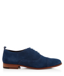 Topsham blue suede lace-up Oxfords