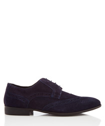 Thornburry navy suede brogues