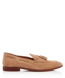 Rochford camel suede tassel loafers