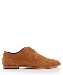 Tipton tan suede Derby shoes