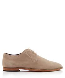 Tipton beige suede Derby shoes