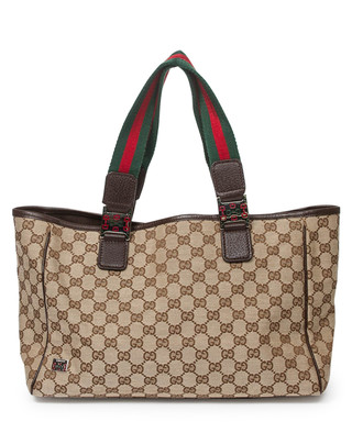 5985db1e088180 Brown monogrammed rectangular tote Sale - Vintage Gucci Sale