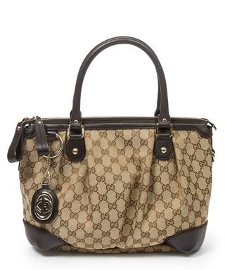e47101f87c04c8 Sukey beige canvas top handle tote bag Sale - Vintage Gucci Sale