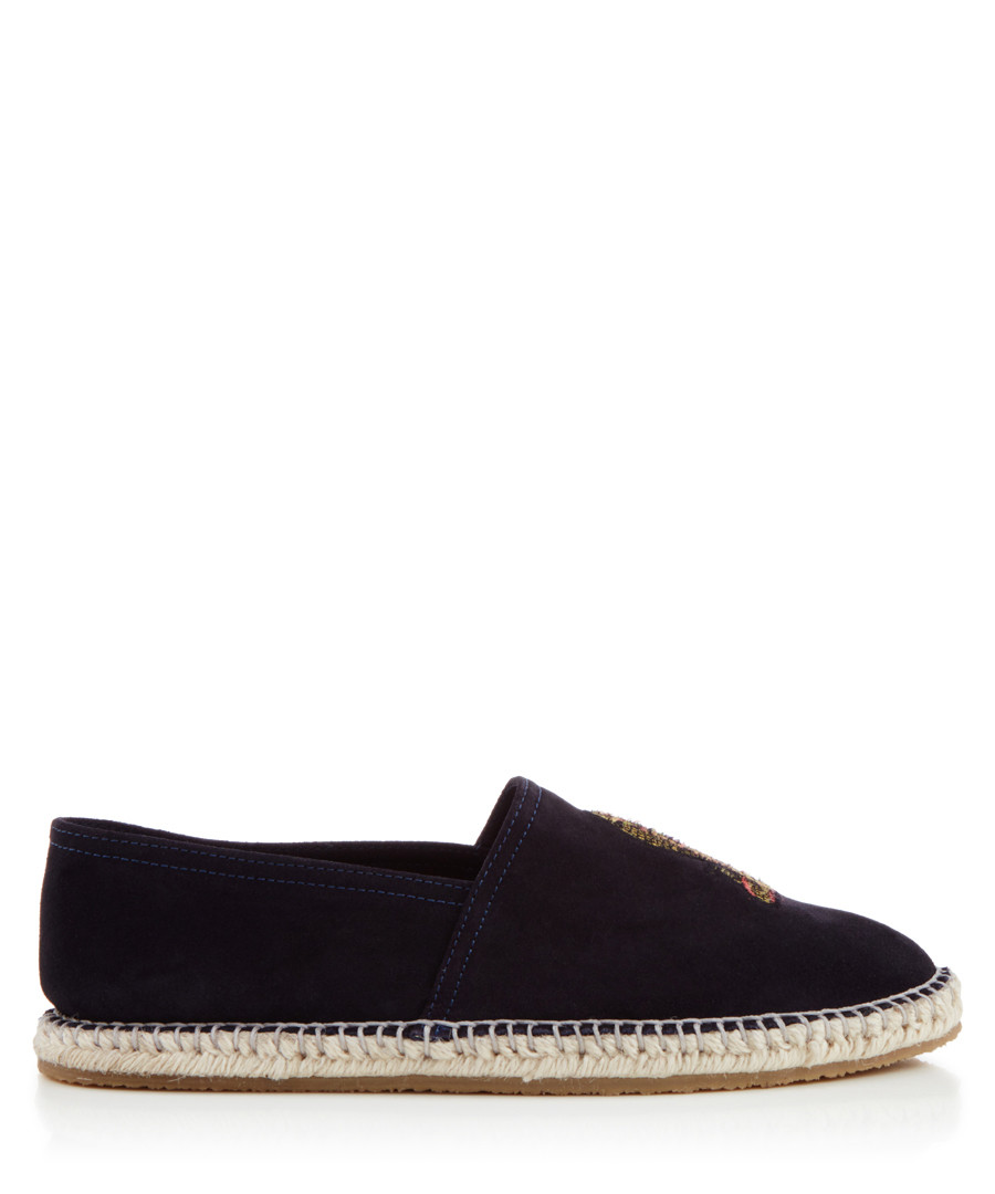 Royston navy embroidered espadrilles Sale - KG MEN
