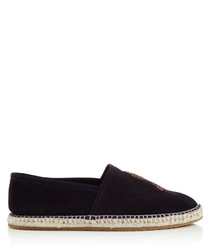Royston navy embroidered espadrilles
