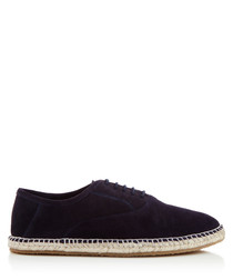 Redhill navy suede lace-up espadrilles