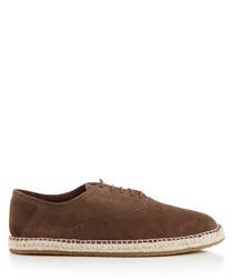 Redhill grey suede lace-up espadrilles