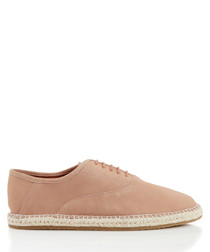 Redhill pink suede lace-up espadrilles