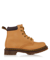 Women's 939 tan leather lace-up boots