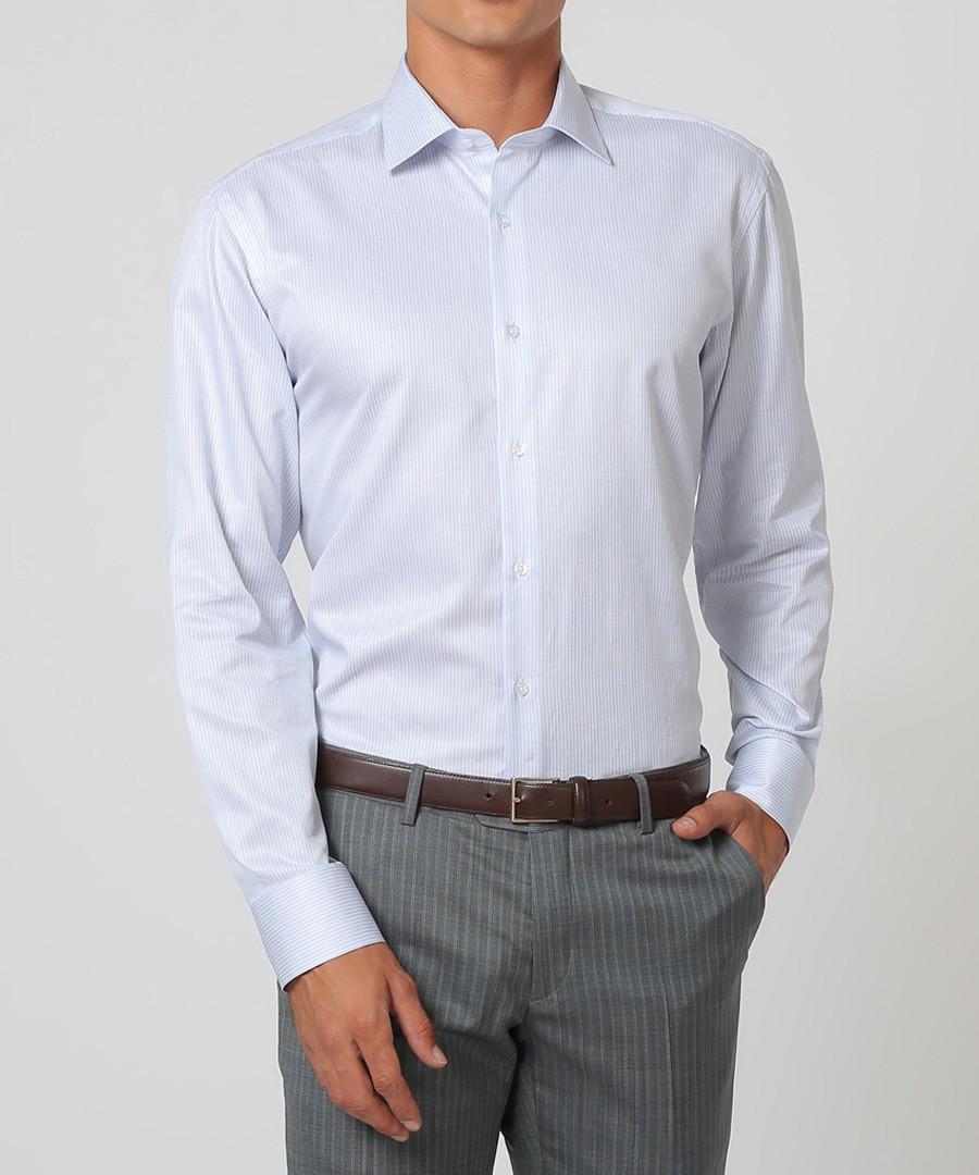 White & pastel cotton stripe shirt Sale - cloth by ermenegildo zegna