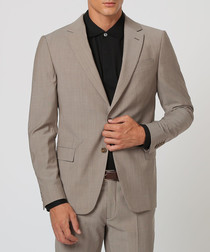2pc pearl grey pure wool suit
