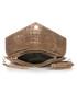 Brown leather moc-croc envelope clutch Sale - mia tomazzi Sale