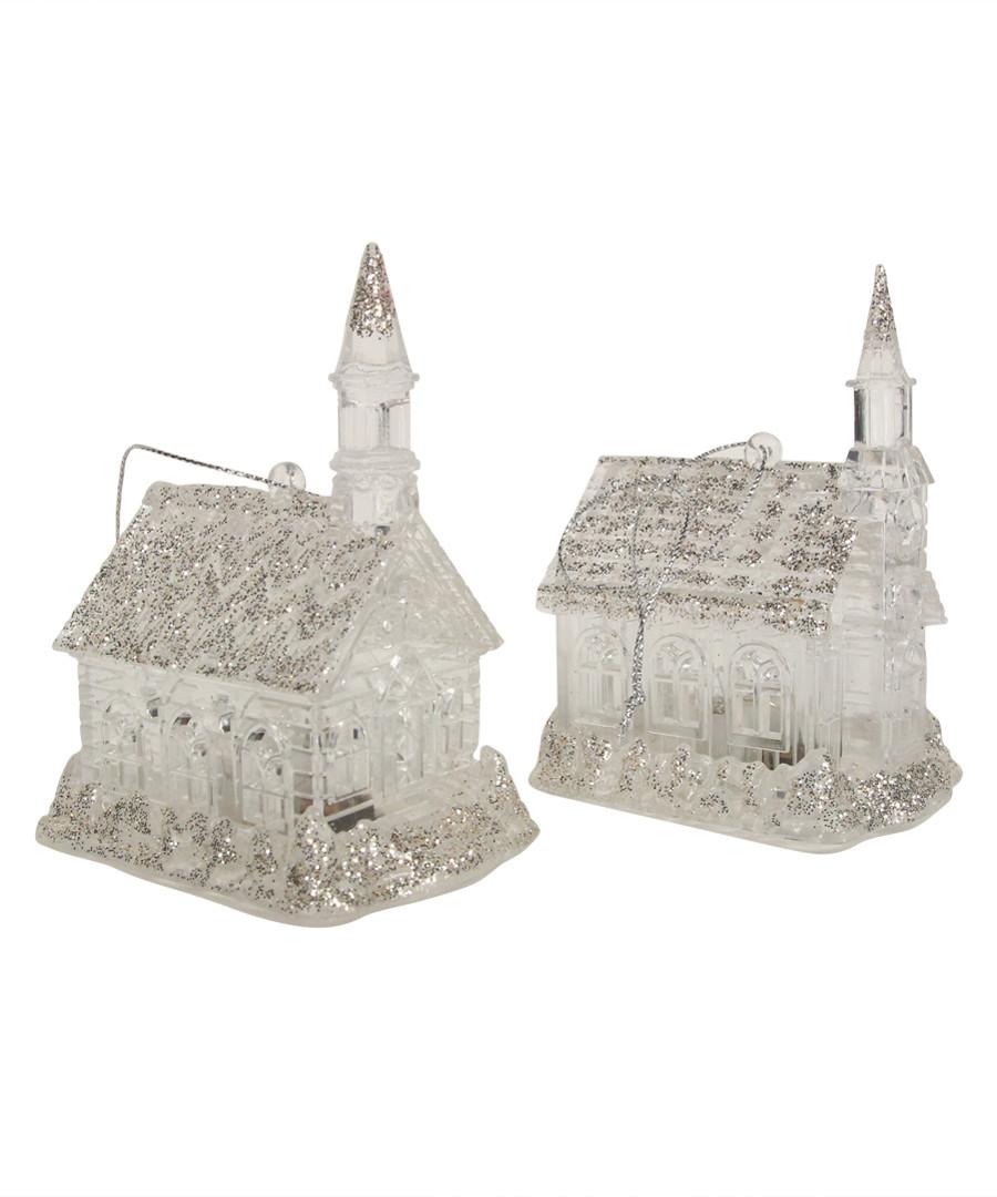 1pc silver glitter church decorations Sale - Gisela Graham