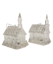 1pc silver glitter church decorations