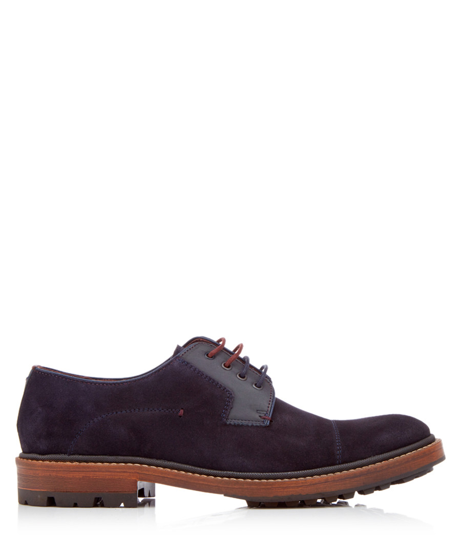 Kloude dark blue suede lace-ups Sale - ted baker