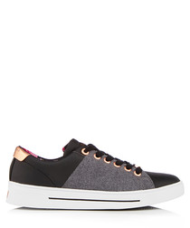 Women's Ophily grey leather sneakers