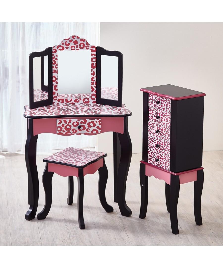Remarkable Discount Teamson Kids Fashion Prints Vanity Table Stool Cjindustries Chair Design For Home Cjindustriesco
