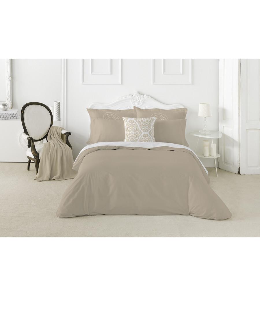 Nordicos taupe cotton s.king duvet set Sale - pure elegance