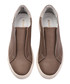 Women's beige leather slip-on sneakers Sale - Rosapreto Sale