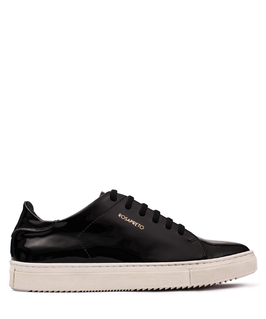 Women's Black patent logo sneakers Sale - Rosapreto