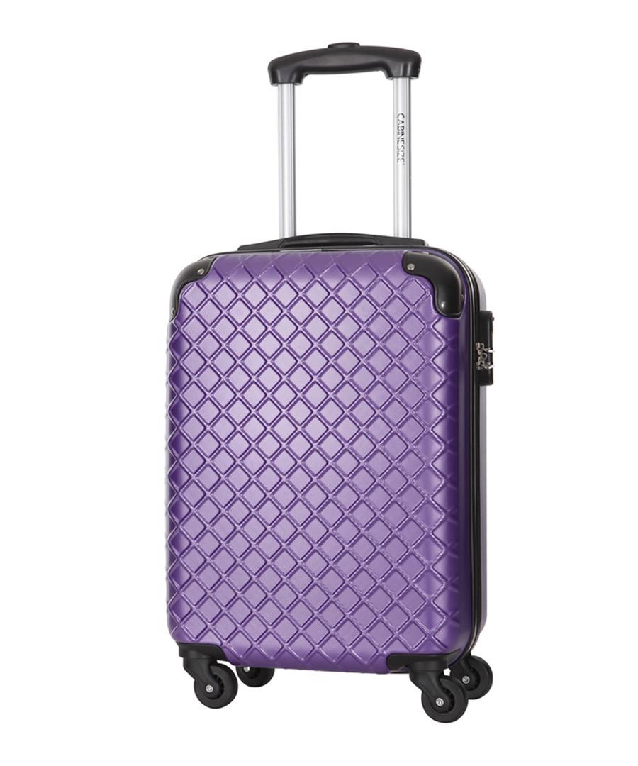 Centaur purple spinner suitcase 48cm Sale - cabine size