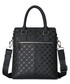 Black leather embossed briefcase Sale - hautton Sale