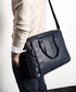 Black textured leather briefcase Sale - woodland leathers Sale
