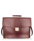 Burgundy & gold-tone leather briefcase Sale - lombard Sale