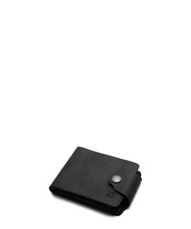 Black leather stud flap wallet