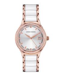 Thyrsa rose gold-tone diamond watch